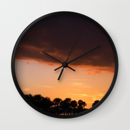 Sunset colors Wall Clock