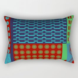 Japanese Style Colorful Patchwork Rectangular Pillow