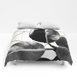 Ficus Elastica Geo #1 #tropical #foliage #decor #art #society6 Comforters