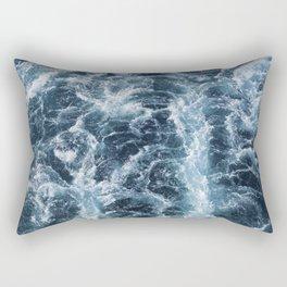 Sea Blue Wake - Pacific Ocean Rectangular Pillow