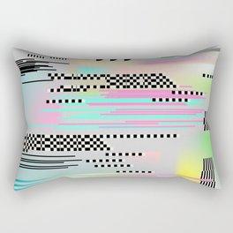 Glitch art effect Rectangular Pillow