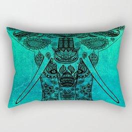 Ornate Patterned Elephant Rectangular Pillow