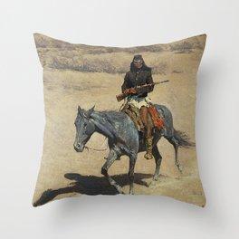 "Frederic Remington Western Art ""Apache Scout"" Throw Pillow"