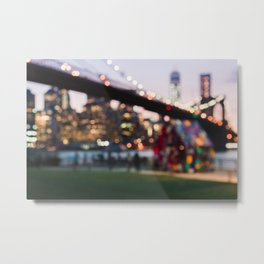 New York City and a Summer Sunset Metal Print