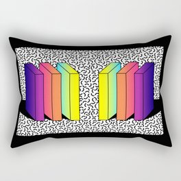 Memphis Style shaded Rectangular Pillow