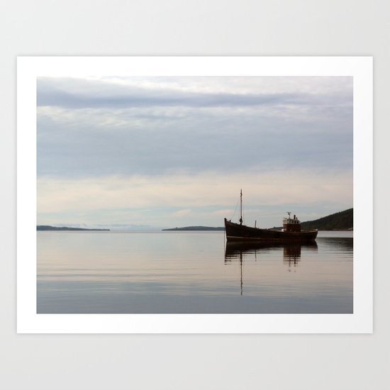 Old Fishing Trawler Art Print