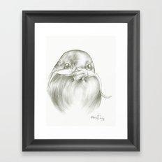 Mustache Bird  Framed Art Print