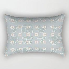 Underwear Grey Color Rectangular Pillow