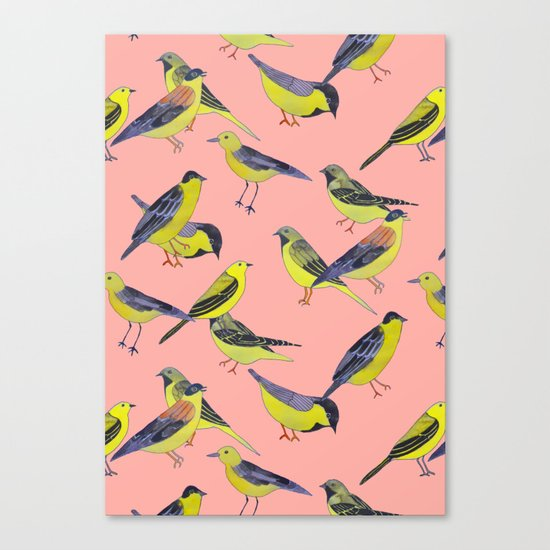Wagtails Canvas Print