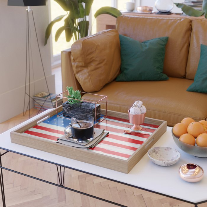 Red, White, and Blue Serving Tray