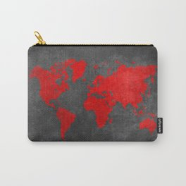 World map 5 Carry-All Pouch