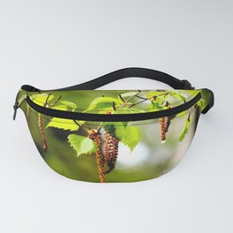 The birch leaves and catkins Fanny Pack