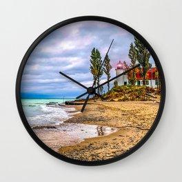 Autumn at Point Betsie Lighthouse Wall Clock