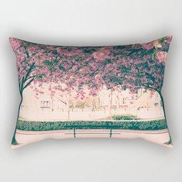 Paris, cherry blossom garden Rectangular Pillow