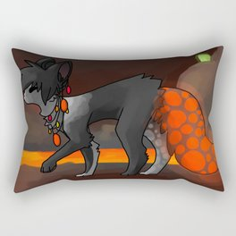 Neal in the lava tunnels Rectangular Pillow