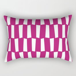 Bright berry pink and white abstract shapes pattern Rectangular Pillow