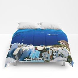 Santorini Caldera Comforters