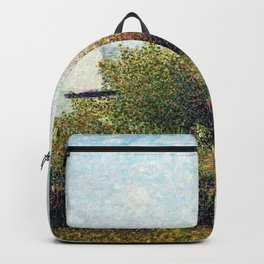 Georges Seurat - The Harbor Of Grandcamp - Digital Remastered Edition Backpack