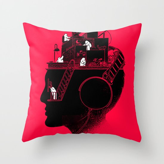 Everyday is a New Soundtrack Throw Pillow
