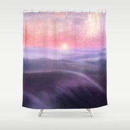 Minimal abstract landscape III Shower Curtain