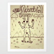 The Adorable Bunny Art Print