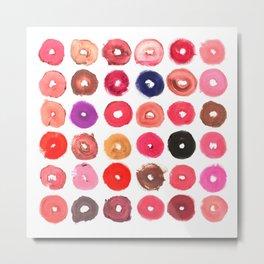 Lipstick Donuts Metal Print