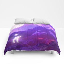 80s Purple Drago Comforters
