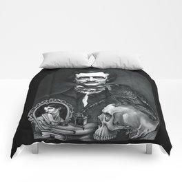 Edgar Allan Poe Portrait Comforters