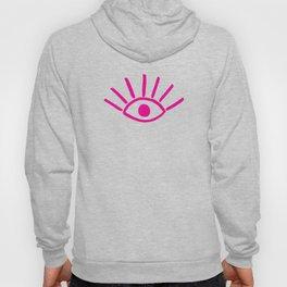 Pink Evil Eye Pattern Hoody