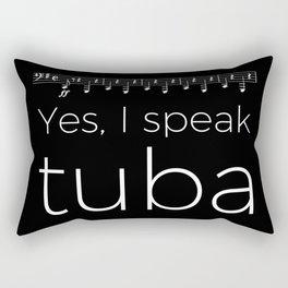 Tuba oompas (black) Rectangular Pillow