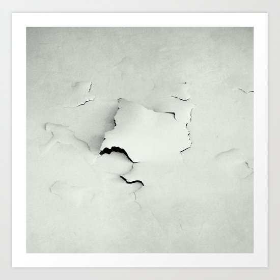 white crash Art Print