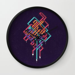 Weaving Lines Wall Clock