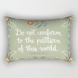 Romans 12:2 Do Not Conform Rectangular Pillow