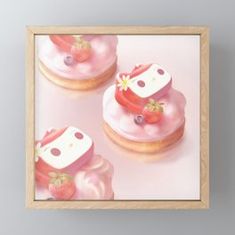 Strawberry Tart Framed Mini Art Print