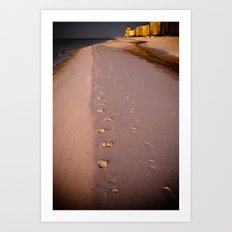 Morning Walk on the Beach III Art Print