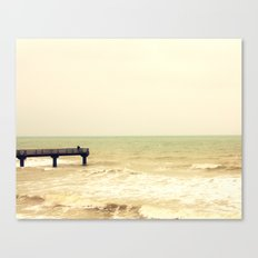 The pier is for fishing Canvas Print