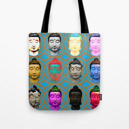 Buddha Heads Tote Bag
