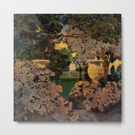 The oaks, the garden of years and other by Maxfield Parrish Metal Print