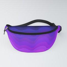Ultraviolet Retro Ripple Fanny Pack