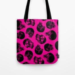Pink Skulls Tote Bag