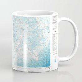 LA Mississippi River Delta 335172 1983 topographic map Coffee Mug