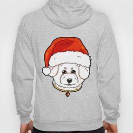 Bichon Frise Dog Christmas Hat Present Hoody