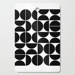 Mid Century Modern Geometric 04 Black Cutting Board
