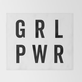 GRL PWR / Girl Power Quote Throw Blanket