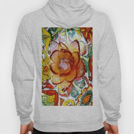 the crystal flower and multiple colors Hoody