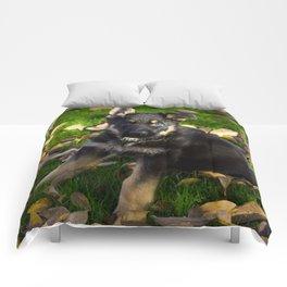 Little German Shepherd puppy Comforters