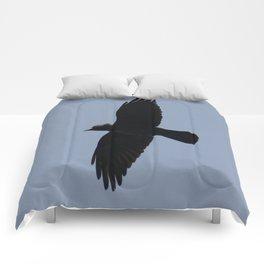 Jackdaw In Flight Comforters