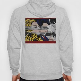 "Roy Lichtenstein's ""In the car"" & Marcello Mastroianni with Anita Ekberg Hoody"