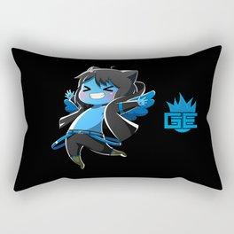 Chibi Luc (Expression 2) w/ Black Background Rectangular Pillow