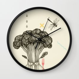 Mr. Broccoli Wall Clock